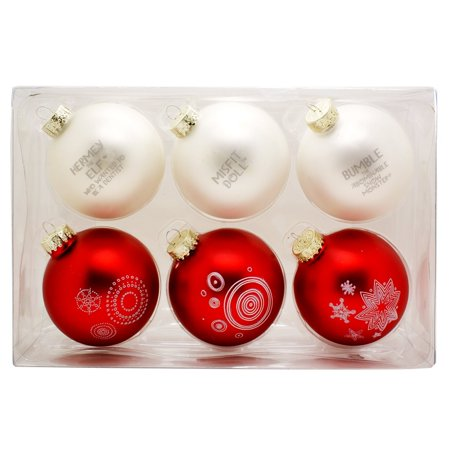 Rudolph the Red-nosed Reindeer Misfit Toys Christmas Tree Ball Ornaments : Set of 6 Christmas Ornaments Gift Box, Decorate your Christmas tree this year with this.., By Roman from USA - Reindeer Antlers For Your Car
