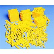 School Smart Beginning Base Ten Block Kit, Yellow