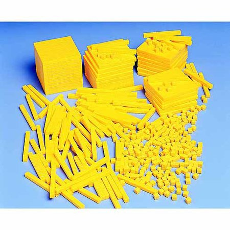 School Smart Beginning Base Ten Block Kit, Yellow