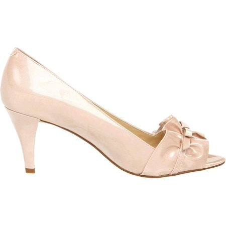 Enzo Angiolini Womens Abrese Peep Toe Classic Pumps, Beige, Size 8.0