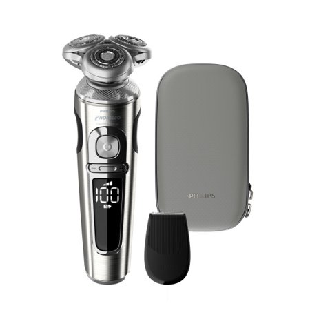 Philips Norelco 9000 Prestige Electric Shaver with Precision Trimmer and Premium Case, SP9820/87