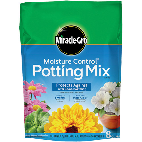 Miracle-Gro Moisture Control Potting Mix, 8 qt