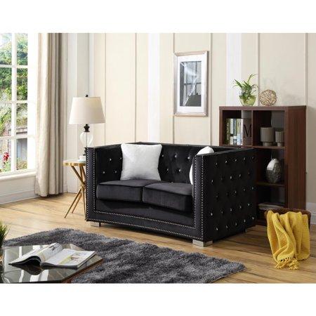 Glory Furniture Miami G803-L Sofa, Black ()
