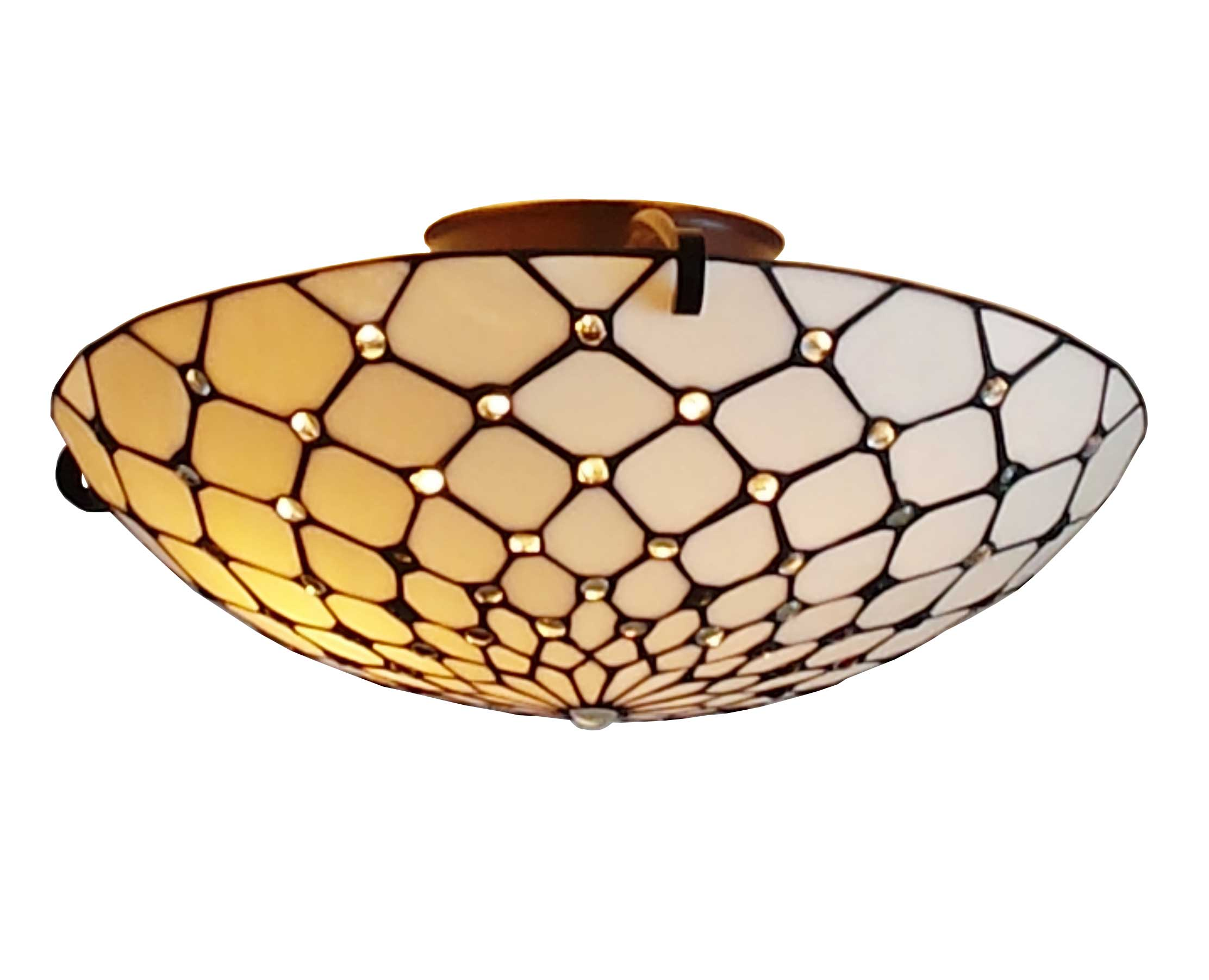 Amora Lighting Tiffany Style Ceiling Fixture Lamp, 17-Inches Wide by Supplier Generic