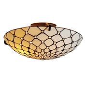 Amora Lighting Tiffany Style Ceiling Fixture Lamp, 17-Inches Wide