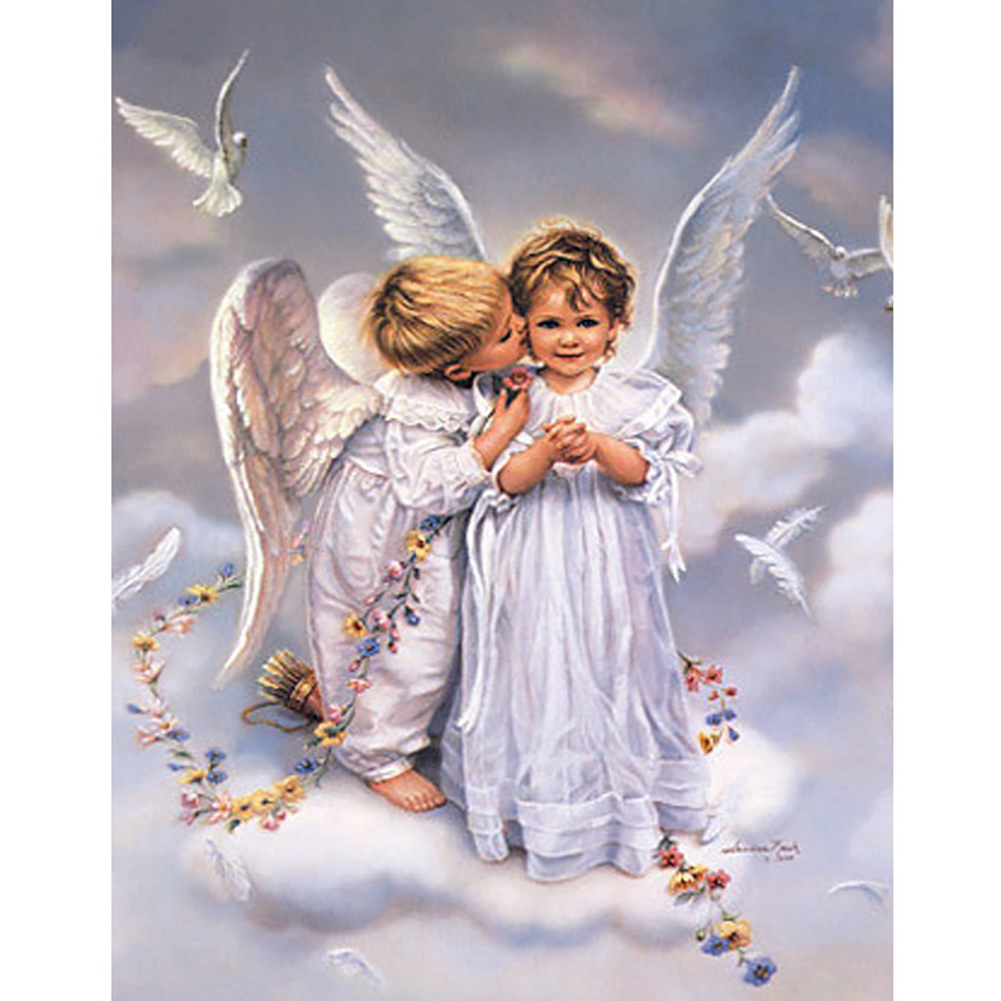 Girl12Queen Cute Angel 5D DIY Diamond Embroidery Painting Cross Stitch Home Wall Decor
