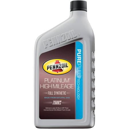 Pennzoil platinum high mileage 5w 30 motor oil 1 qt for Pennzoil platinum full synthetic motor oil review