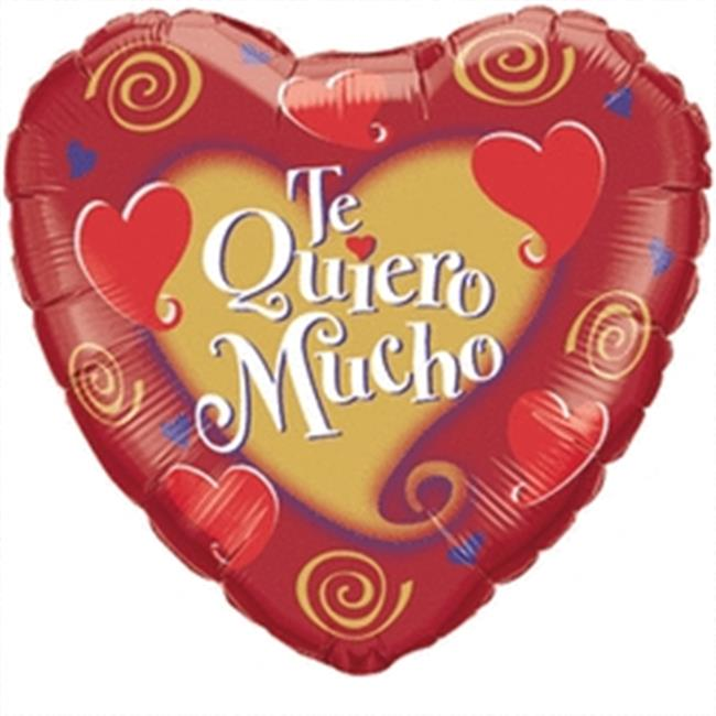 Mayflower 60489 9 in. Te Quiero Mucho Heart Flat Foil Balloon