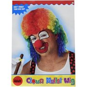 California Costumes Men\'s Clown Mullet Wig, Multi, One Size