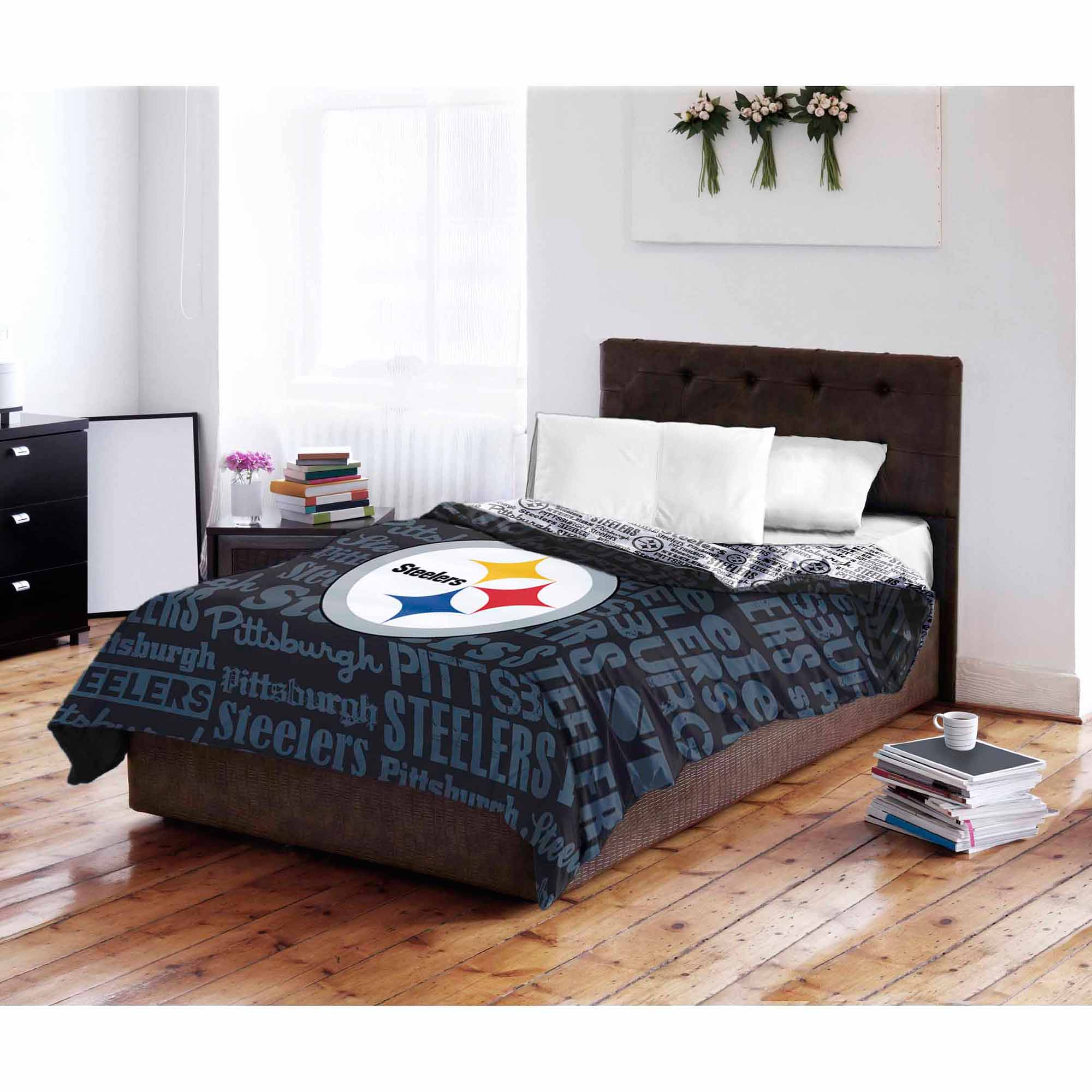 NFL Pittsburgh Steelers Twin/Full Bedding Comforter