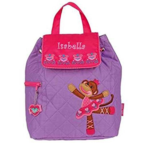 Personalized Embroidered Quilted Backpack