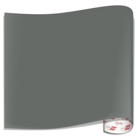 Basic Grey 12x12 Inch Paper - Oracal 651 Glossy Vinyl Sheets - Grey