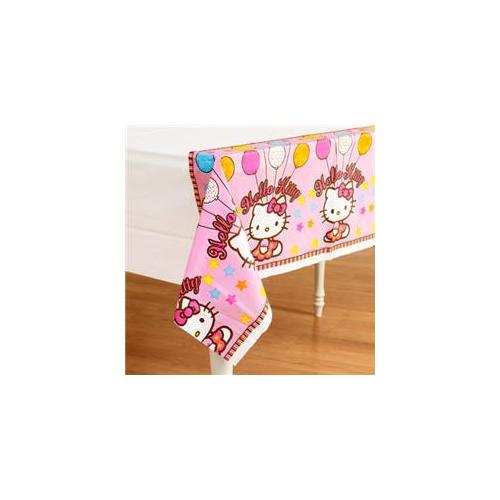 Amscan Hello Kitty Balloon Dreams Plastic Table Cover, 54 by 96-Inch