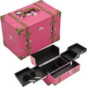 Sunrise C3019PVHP Hot Pink Pro Makeup Case - C3019