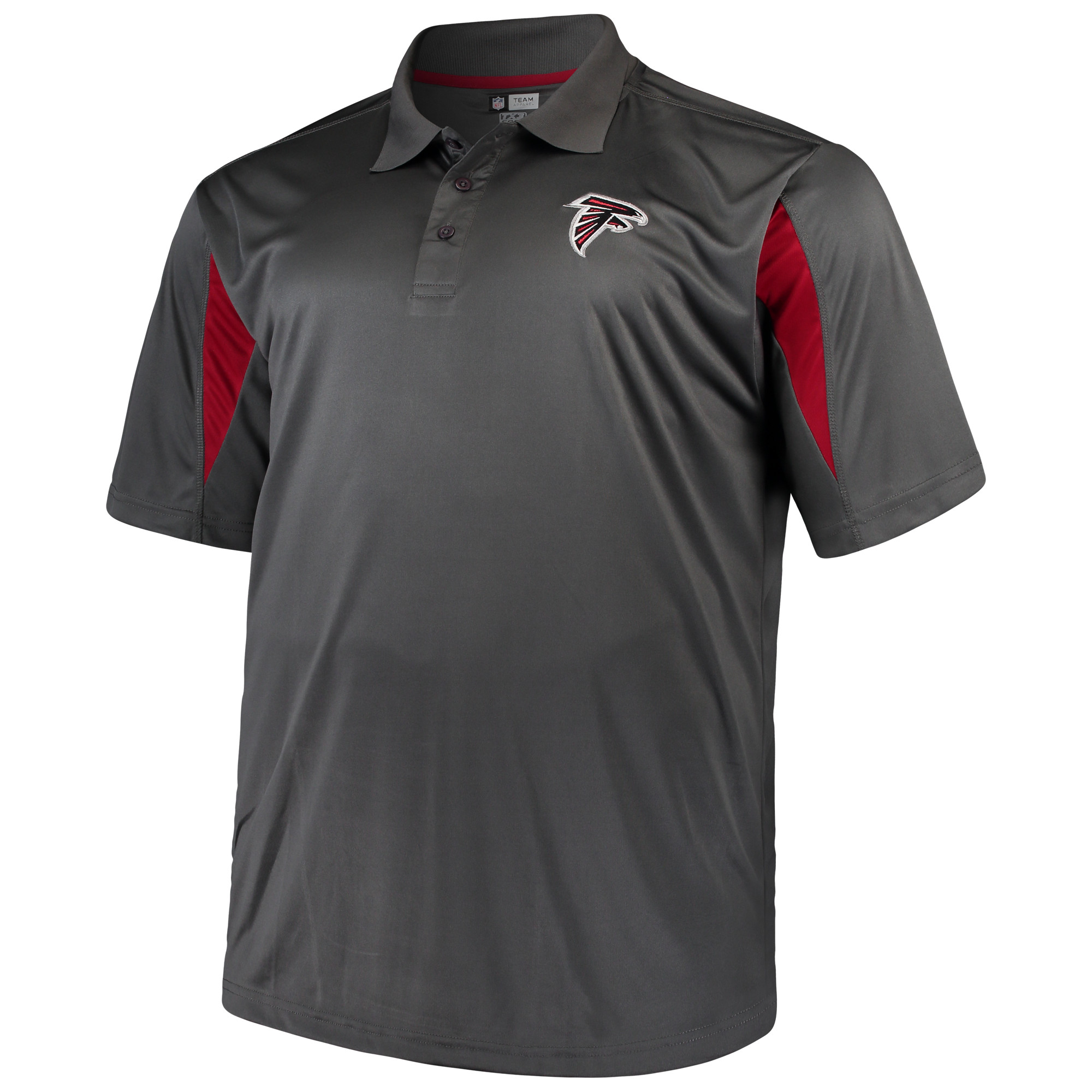 Men's Majestic Charcoal Atlanta Falcons Big & Tall Pieced Polo