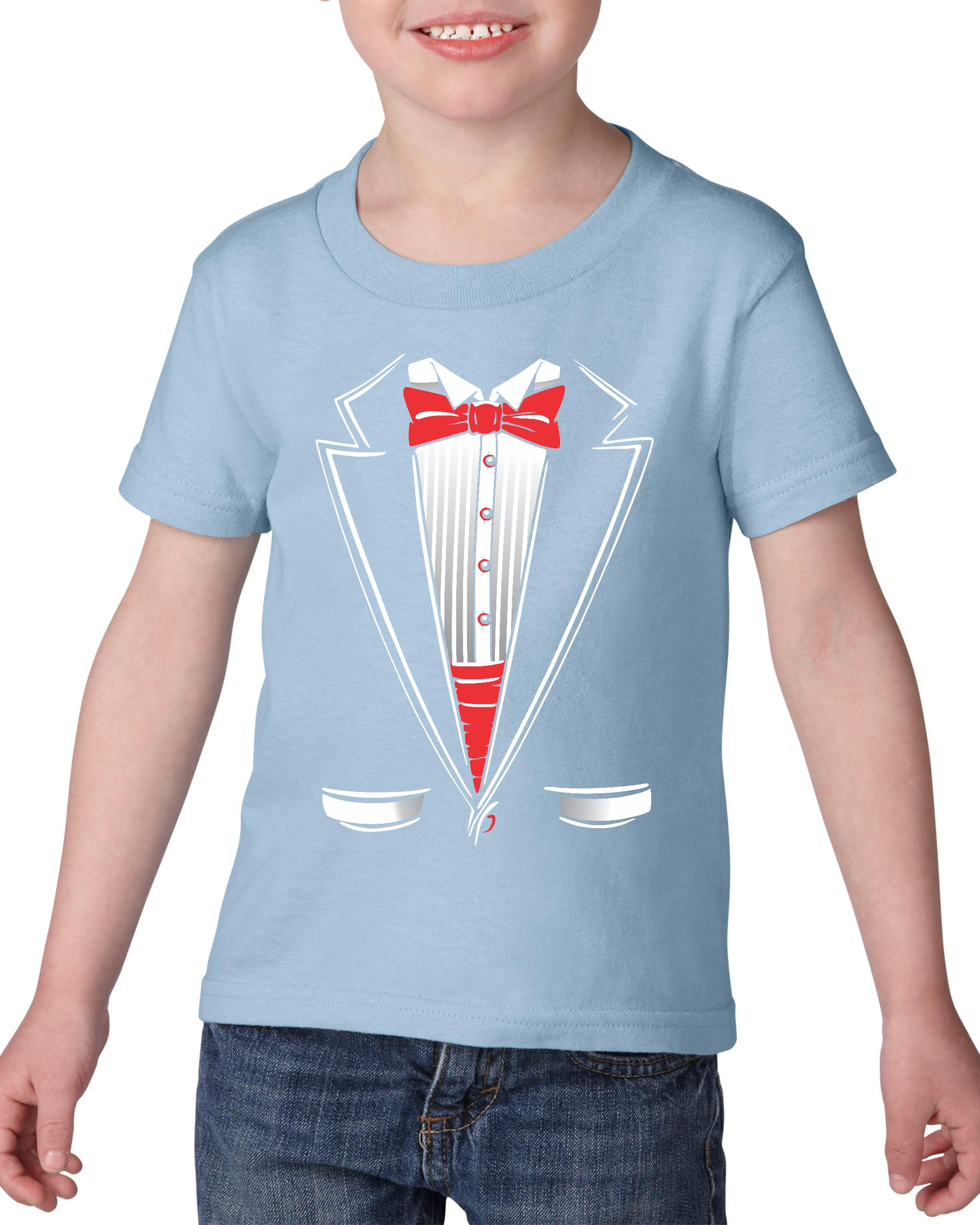 Artix Tuxedo Prom Costume Graduation Birthday Christmas Prom Party Gift Heavy Cotton Toddler Kids T-Shirt Tee Clothing