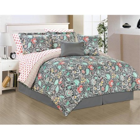 Manhattan Heights 24186 Alessandra Comforter Bed Set Queen Size 10 Piece