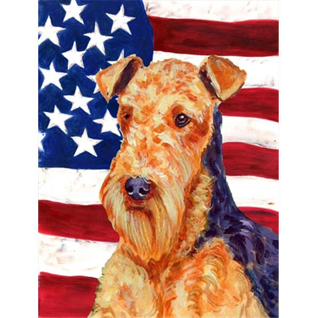 11 x 15 In. Usa American Flag With Airedale Flag, Garden Size - image 1 of 1