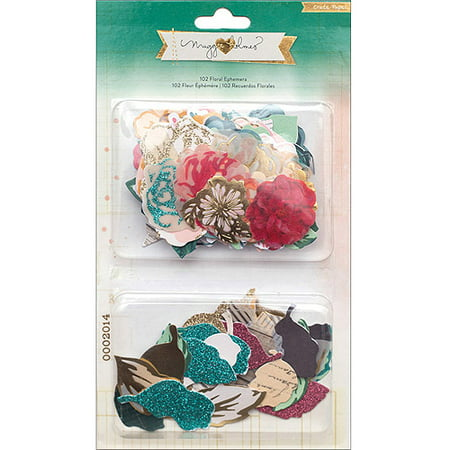 Maggie Holmes Open Book Cardstock Die-Cuts, 102-Pack, Floral Ephemera Flowers and (Florals Scrapbooking)
