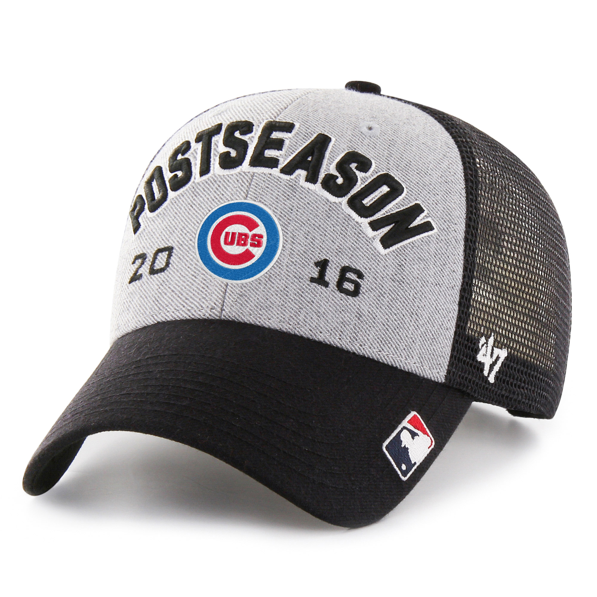Chicago Cubs '47 2016 NL Central Division Champions Locker Room Adjustable Hat - Gray/Black - OSFA