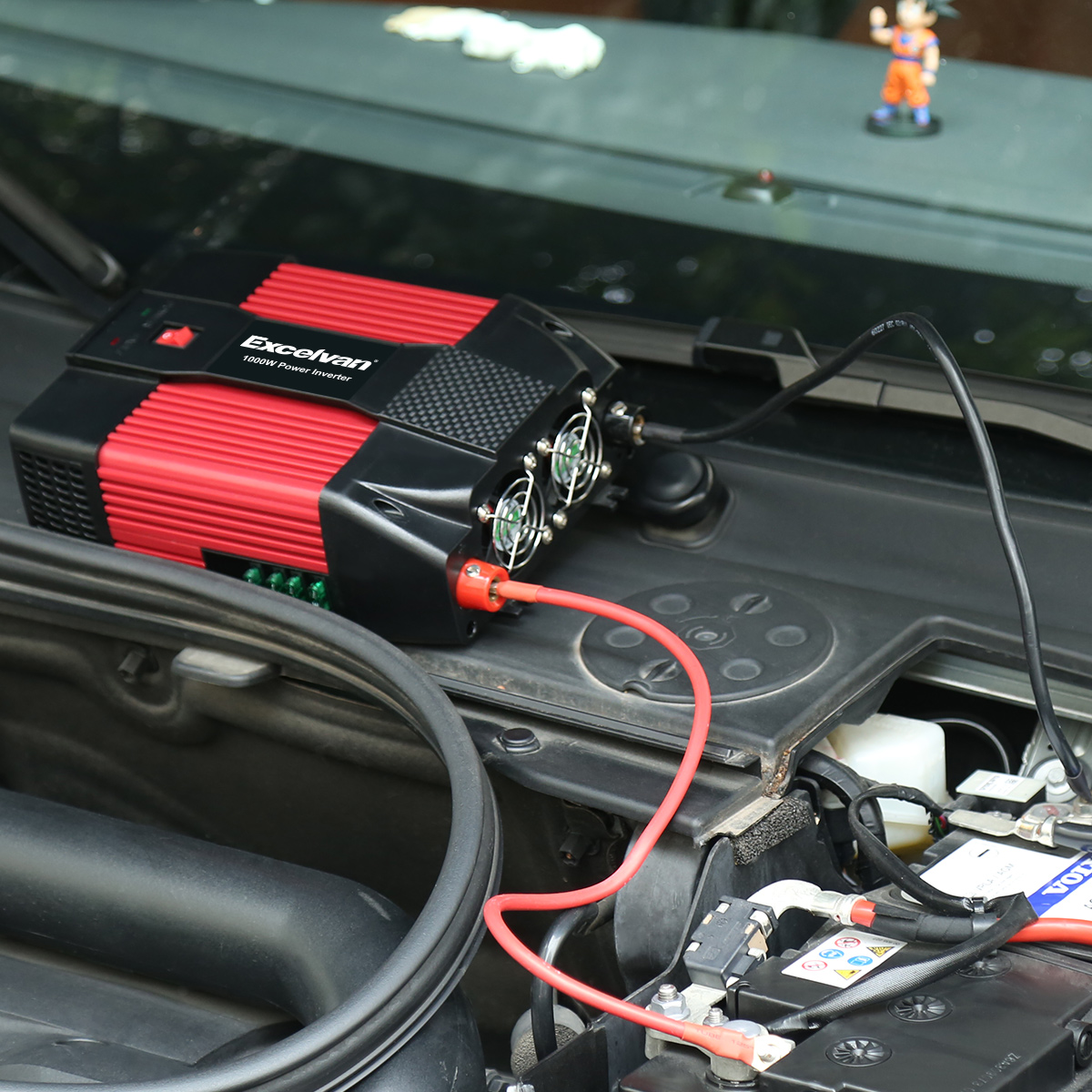 Excelvan 1000w Car Power Inverter 12v Dc To 110v Ac With Dual Usb Port And 3 Outlet