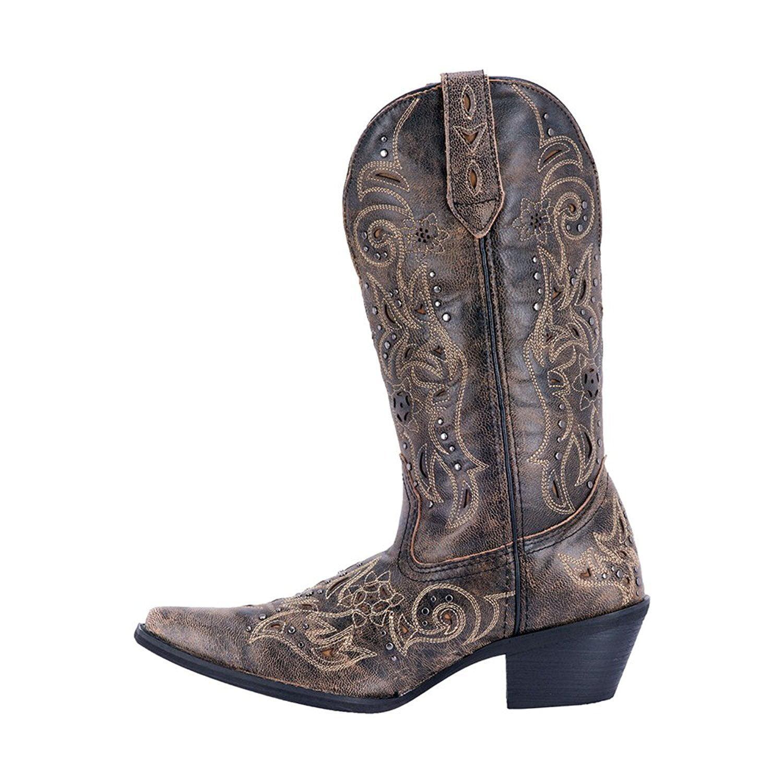 Laredo Western Toe Boots Womens Scandalous Snip Toe Western Distressed Brown 52050 180015