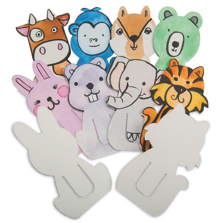 (Price/Pack of 24)S&S Color-Me Animal Clip - Halloween Bookmark Craft Kit