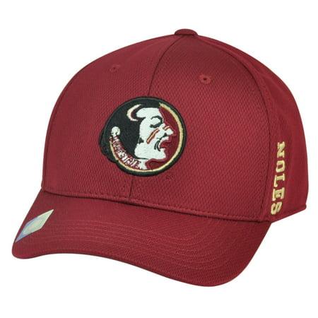 NCAA Florida State Seminoles Top the World Flex Fit Medium Large Hat Cap Burgundy