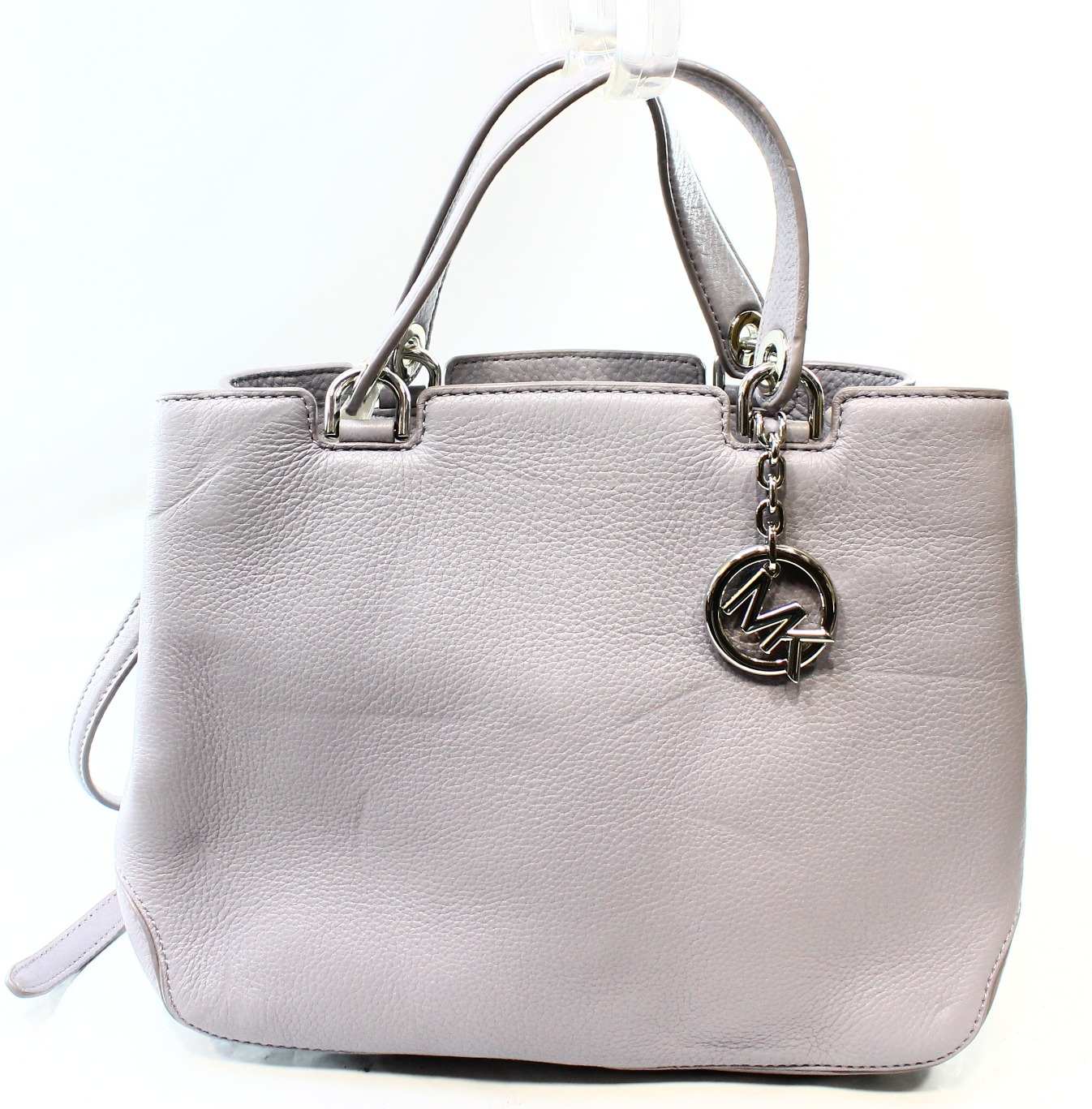 Michael Kors NEW Purple Lilac Leather Anabelle Zip Tote B...