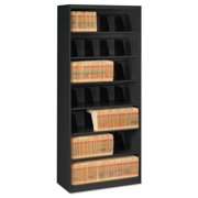 Tennsco 7 Drawers Lateral Filing Cabinet, Black