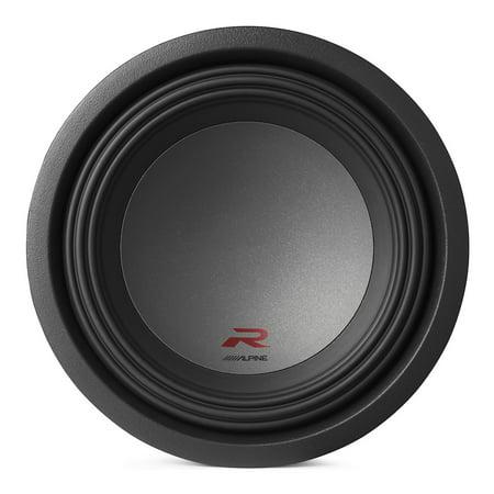 Alpine Type R 10 Inch 2250 Watt Max 4 Ohm Round Car Audio Subwoofer | (Best Amp For Alpine Type R 12 4 Ohm)