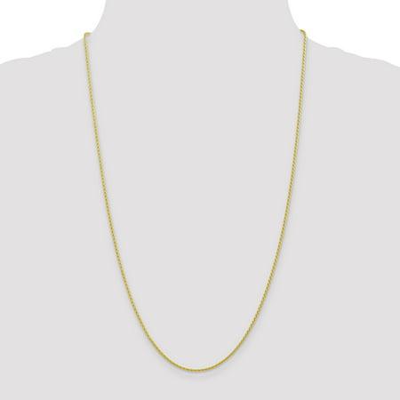 10K Yellow Gold 1.5mm Parisian Wheat Chain 20 Inch - image 2 of 5