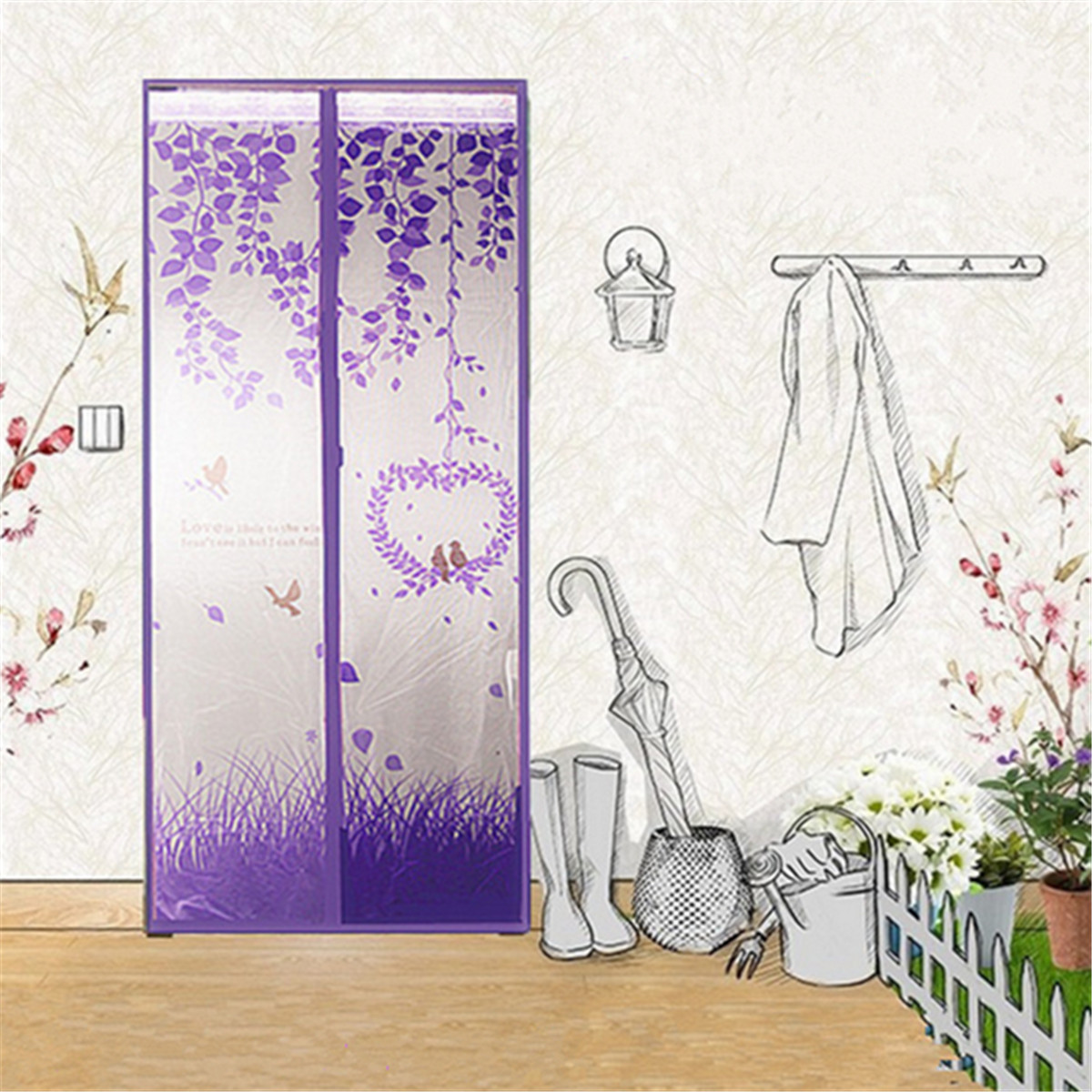 100x210cm Magnetic Snap Door Window Mesh Fly Bug Insect Mosquito Door Curtain Screen Net Guard Easy To Fit And Remove Home Decor
