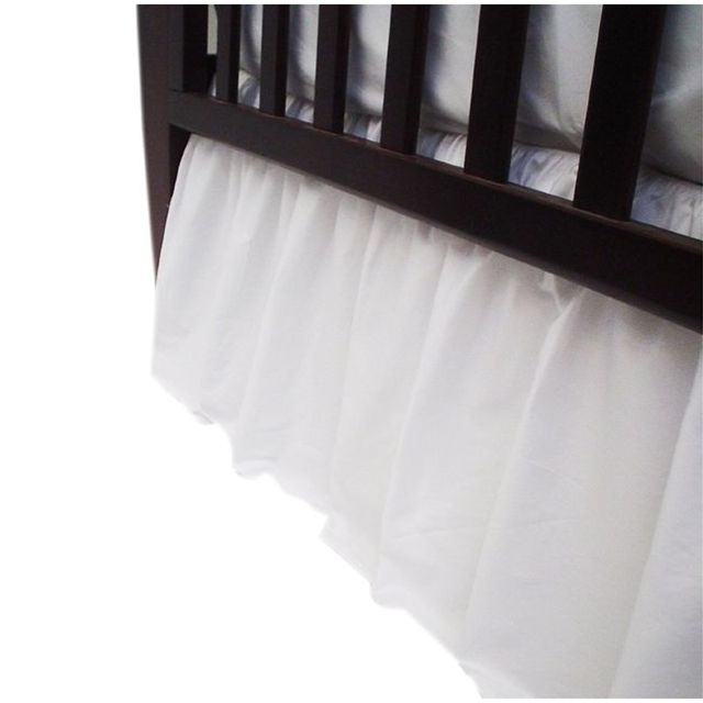 American Baby Company 100% Cotton Percale Dust Ruffle - White