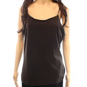 Caslon NEW Solid Espresso Brown Women's Size Large L Scoop Neck Cami Top
