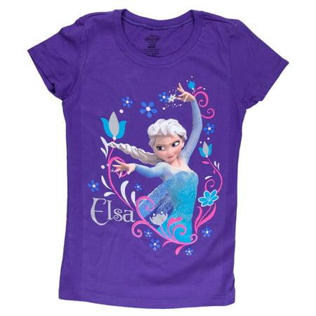 Frozen - Elsa Flowers Girls Juvy T-Shirt - Elsa T Shirt
