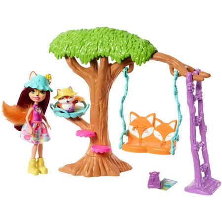 Enchantimals Playground Adventures Playset + Felicity Fox Doll & Flick Figure
