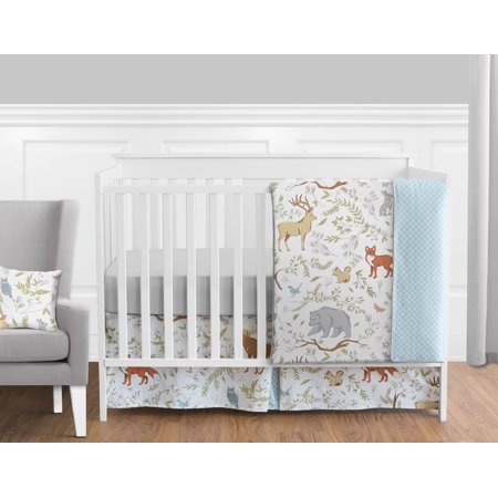 11pc Crib Bedding Set For The Woodland Toile Collection By Sweet Jojo Designs