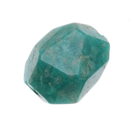- AA Green Russian Amazonite Gemstone 8-22mm Faceted Nugget Beads (10)