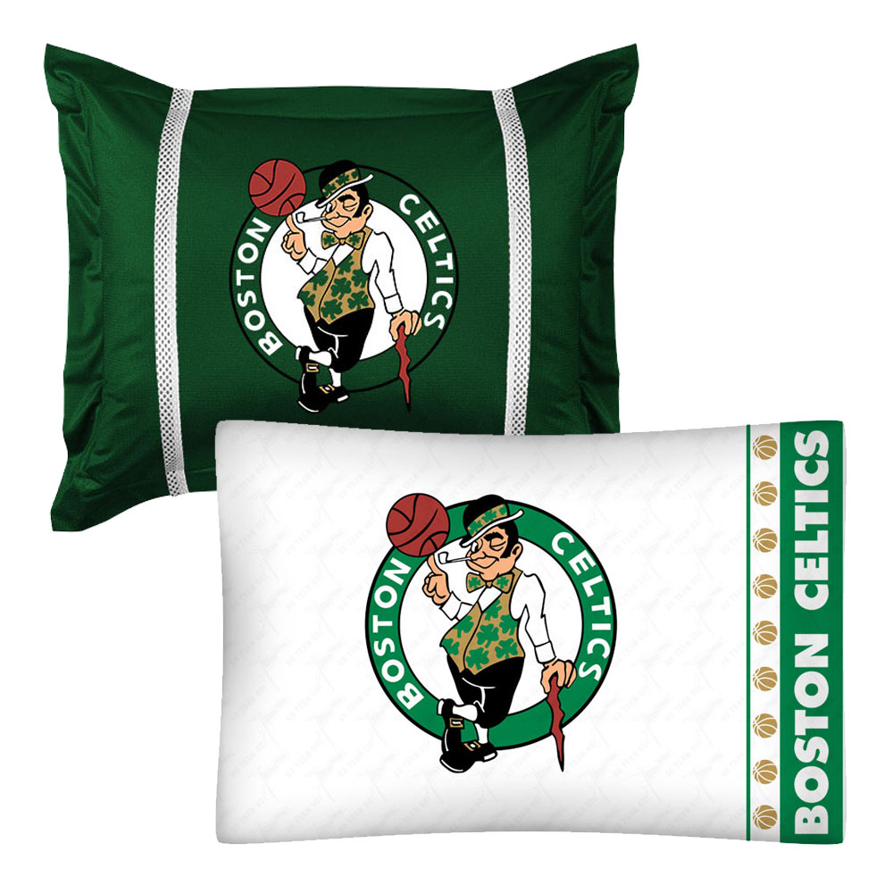 NBA Boston Celtics Pillowcase Pillow Sham Set Basketball Bed