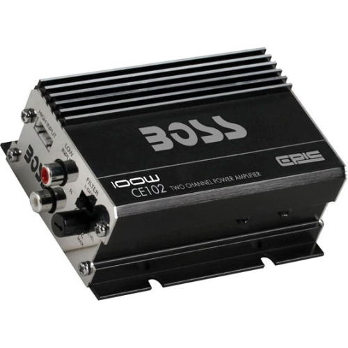Boss Audio CE102 Mini High-Power 100W 2-Channel Amp