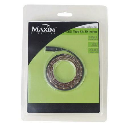 maxim 53480 2 5 foot 2700k led tape light kit from the starstrand. Black Bedroom Furniture Sets. Home Design Ideas