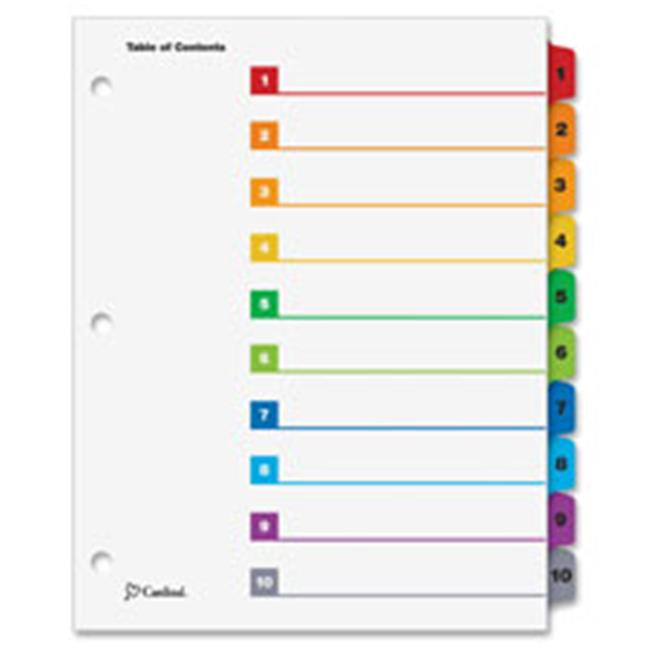 One Step Index System, Numbered 1-5, 5 Tabs, Multicolor