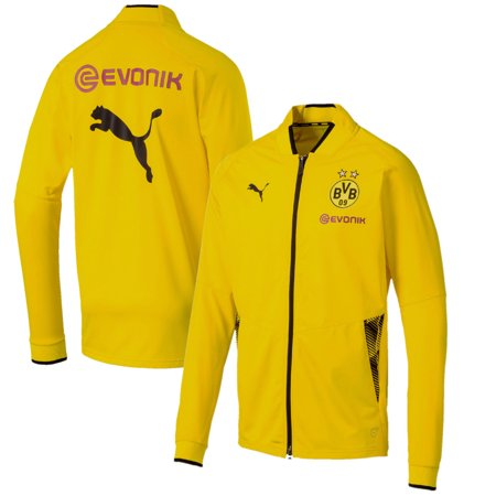 Borussia Dortmund Puma 2018 On-Field Stadium Training Full-Zip Jacket - Yellow
