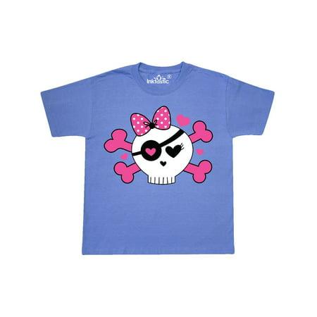 Girl Pirate Skull Valentine Youth T-Shirt](Valentines For Girls)
