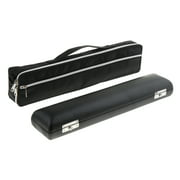 Flute Carry Bag with Leather Cover Storage Case for Woodwind Instrument