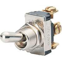 Calterm 41710 Toggle Switch, 12 VDC, 15 A, Silver