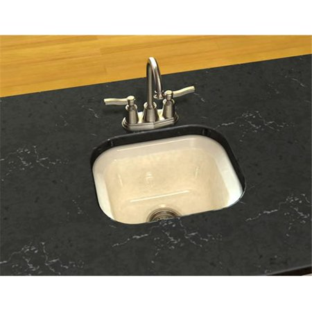 SONG S-8280-3U-61 1 Bowl Entertainment Sink in Biscuit with 3 Faucet Holes