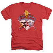 Power Rangers - Retro Rangers - Heather Short Sleeve Shirt - XX-Large