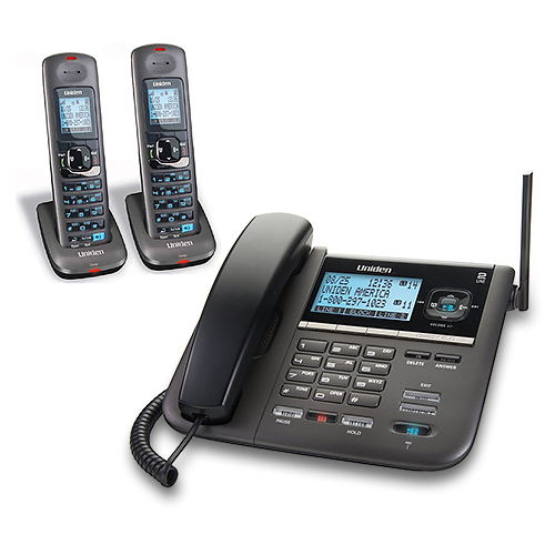 Refurbished Uniden DECT4096-2 2-Line DECT 6.0 Expandable Corded/Cordless Phone With Digital Answering System